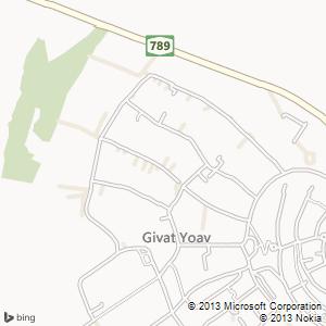 חדר להשכרה בגבעת יואב מפה