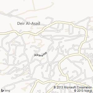 חדר להשכרה בדיר אל-אסד מפה