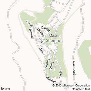 חדר להשכרה במעלה שומרון מפה