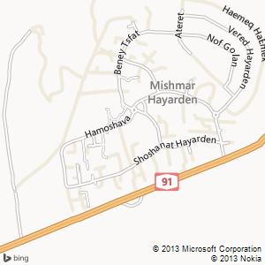 חדר להשכרה במשמר הירדן מפה